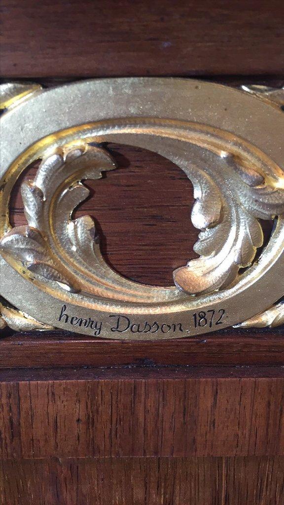 Rare Henry Dasson Signed Pedestal, Superb - 3