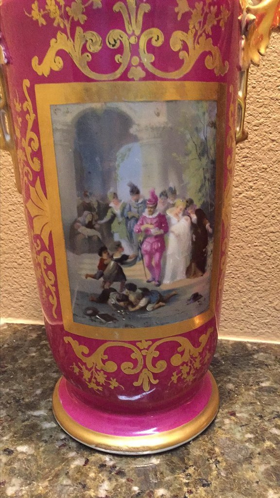 Pr. Of 19th C. French Old Paris Vases - 2