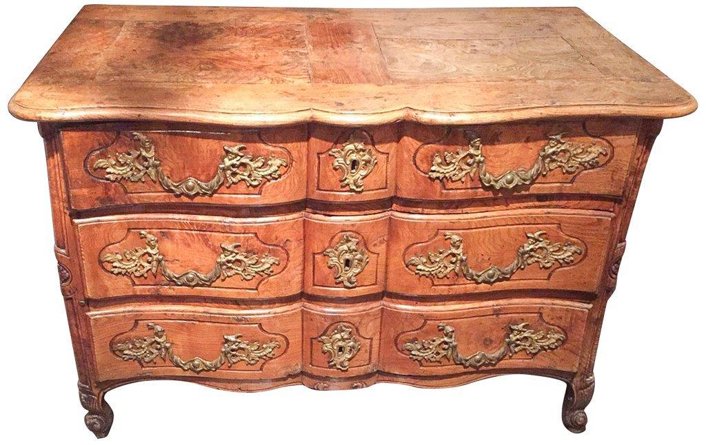 18th Century French  Elmwood Commode,