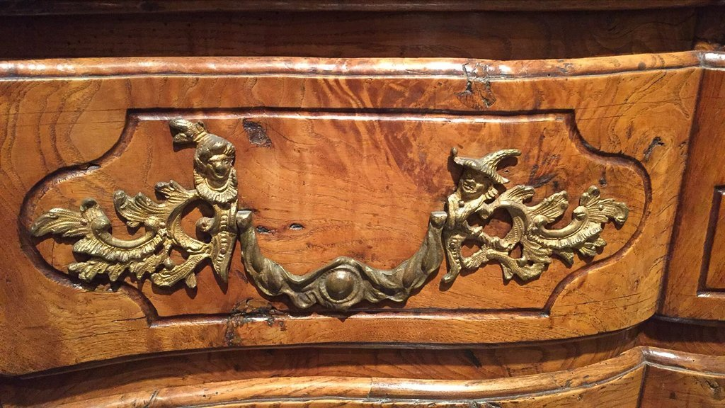 18th Century French  Elmwood Commode, - 3