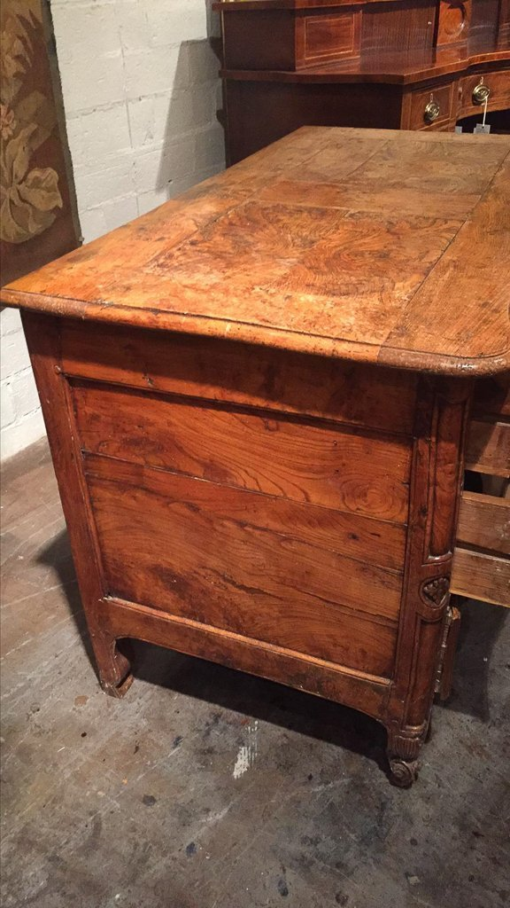 18th Century French  Elmwood Commode, - 5