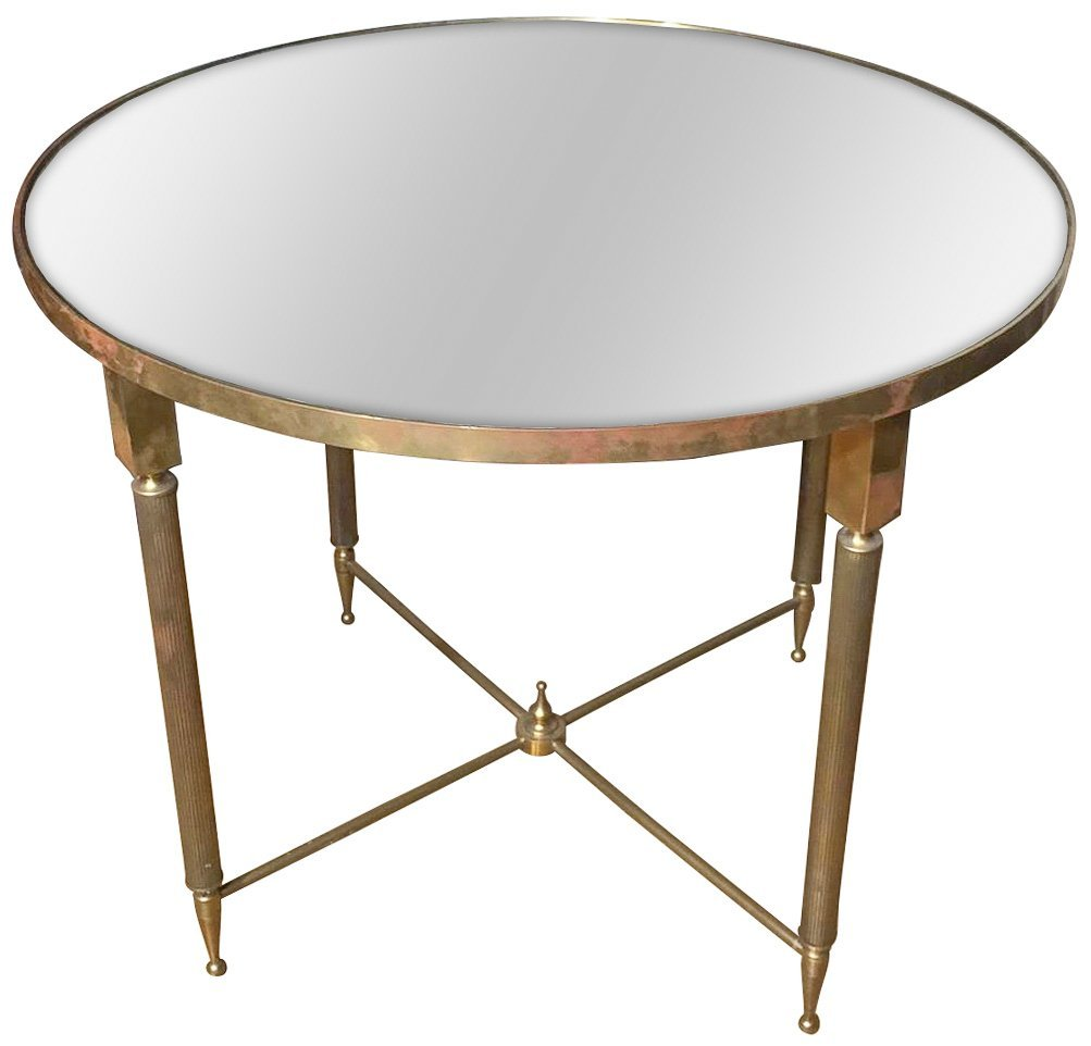 Mid Century French Brass Cocktail Table, Nice