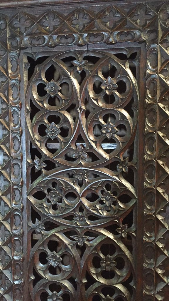 Heavily Carved Oak  Gothic Revival Book Case - 3