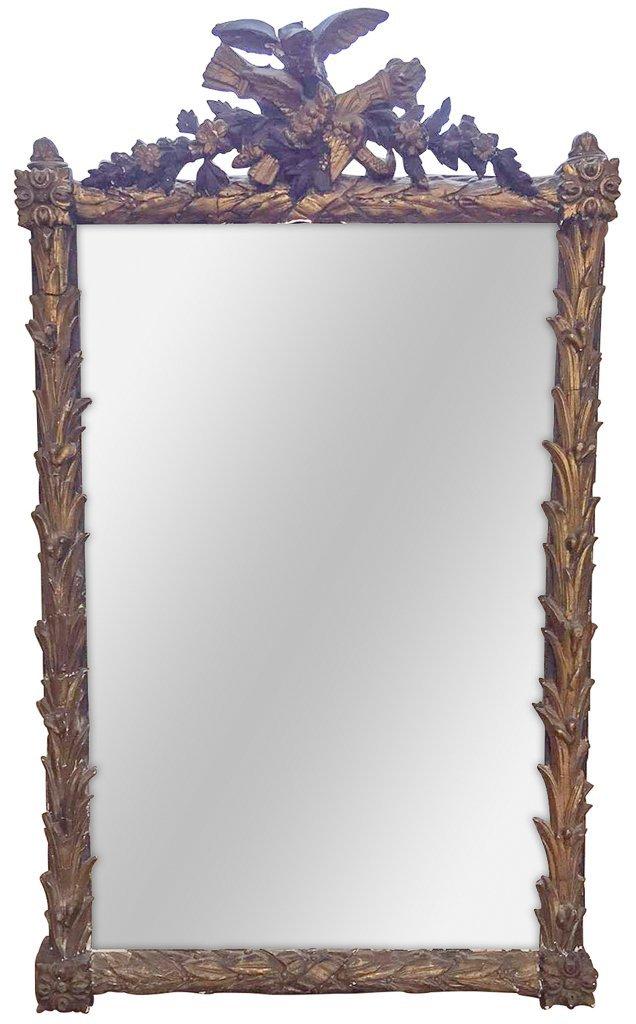 French Napoleon Iii Giltwood Mirror