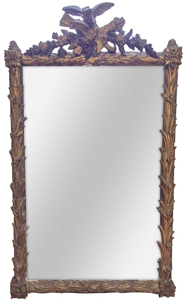 French Napoleon Iii Giltwood Mirror