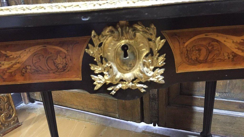 French Napoleon Iii Dropleaf Side Table - 3