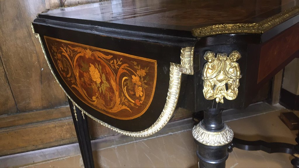 French Napoleon Iii Dropleaf Side Table - 5