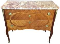 French Kingwood Transitional Commode With
