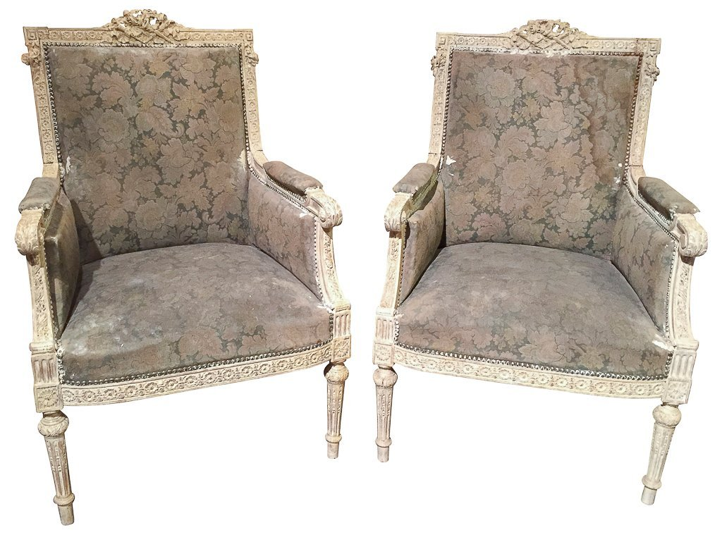 Pair Of 18th/19th C. French Louis Xvi Chairs