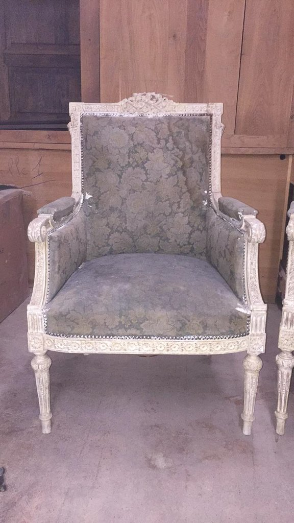 Pair Of 18th/19th C. French Louis Xvi Chairs - 2