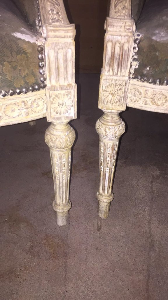 Pair Of 18th/19th C. French Louis Xvi Chairs - 3