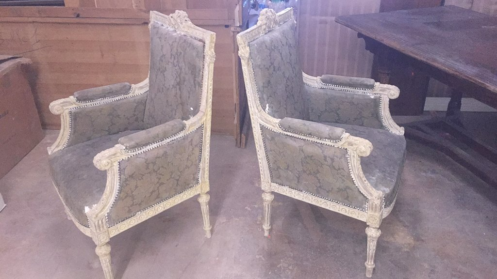 Pair Of 18th/19th C. French Louis Xvi Chairs - 6
