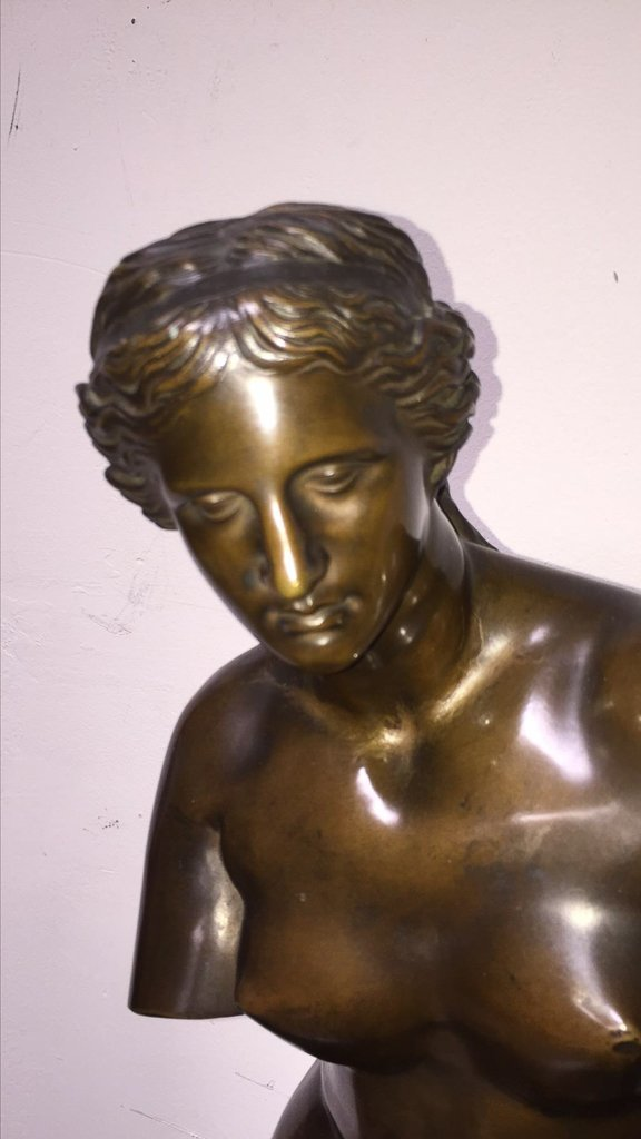 Antique Bronze Of Classical Lady - 5