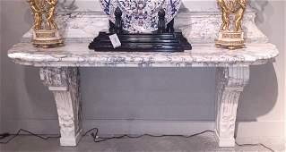 18th C.  French Breche' Violette Marble Console