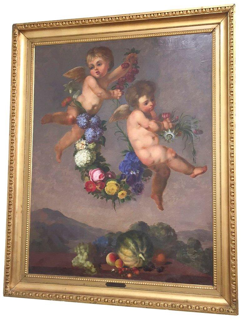 Large French Or Italian Allegorical Scene