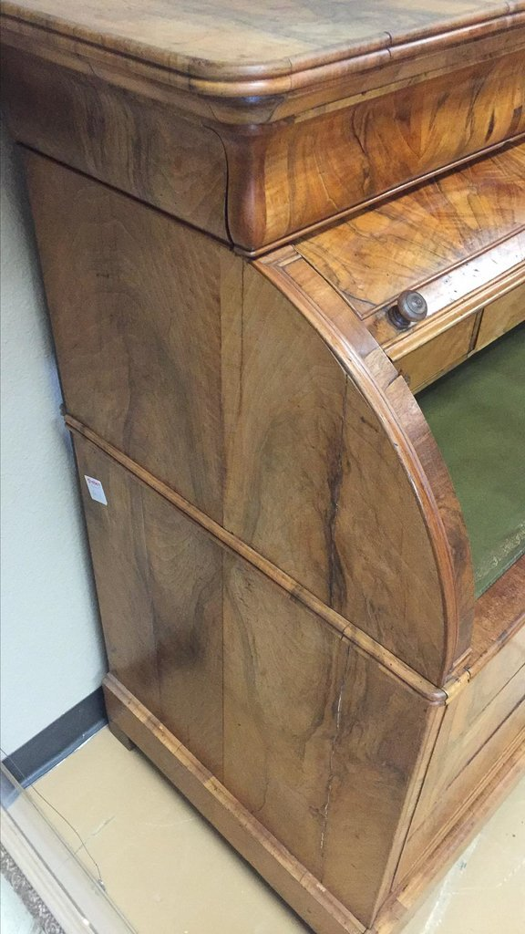 Rare French Louis Phillipe Cylinder Bureau, - 8
