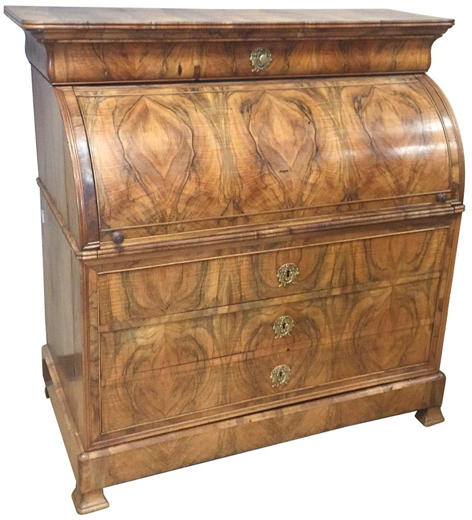 Rare French Louis Phillipe Cylinder Bureau,