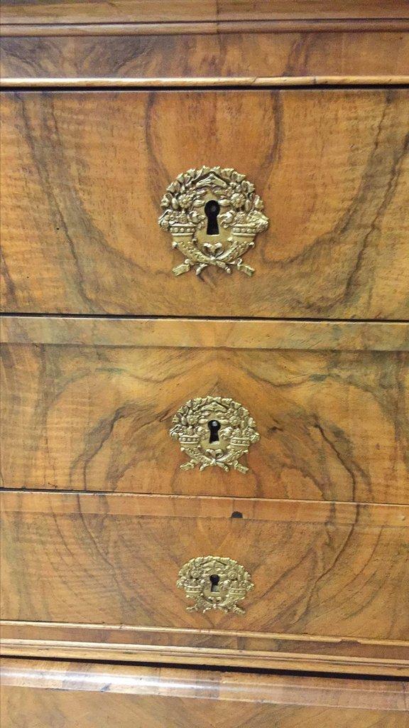 Rare French Louis Phillipe Cylinder Bureau, - 6