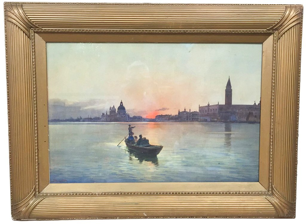 Nice Italian Framed Watercolor, Venetian