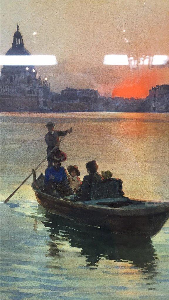 Nice Italian Framed Watercolor, Venetian - 2