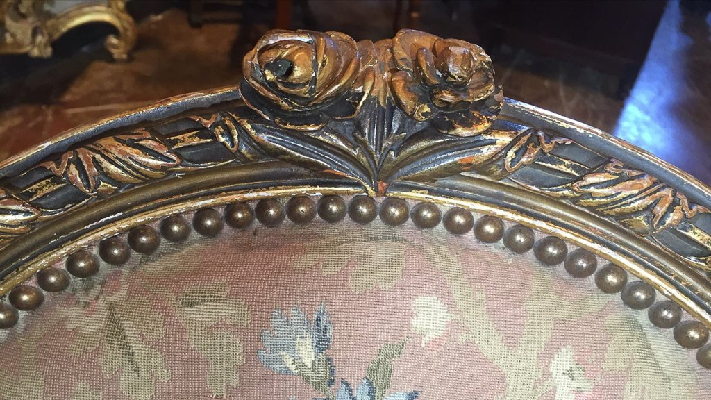 Nice Pr. French Armchairs, Aubusson Style - 3