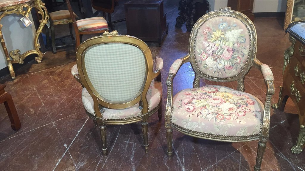 Nice Pr. French Armchairs, Aubusson Style - 5