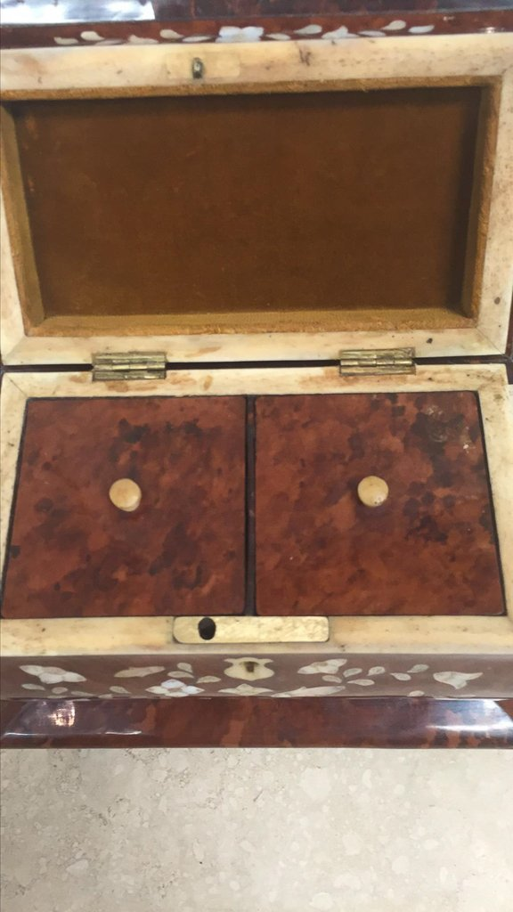 Rare English Tortoise Tea Caddy, With Mother - 6