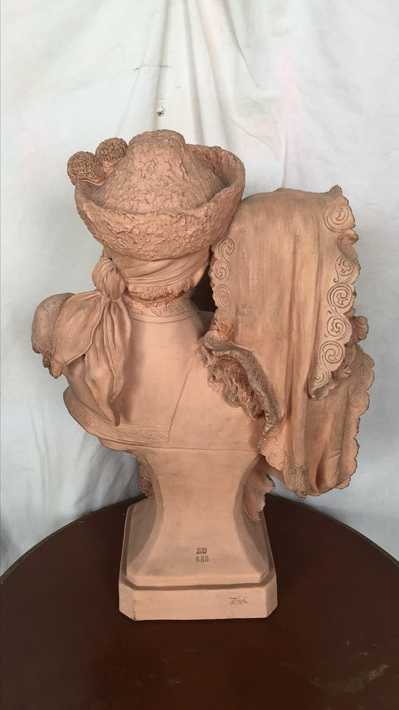 Antique French Terra Cotta Statue, Courting - 2