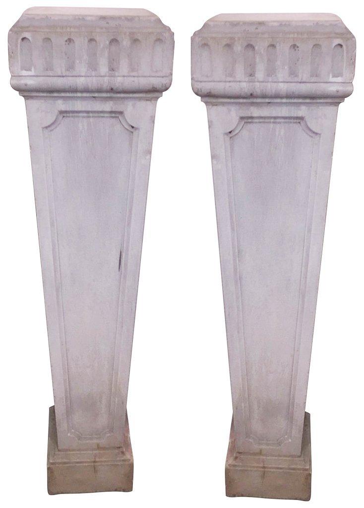 Pair Of 19th C. Italian Marble Pedestals