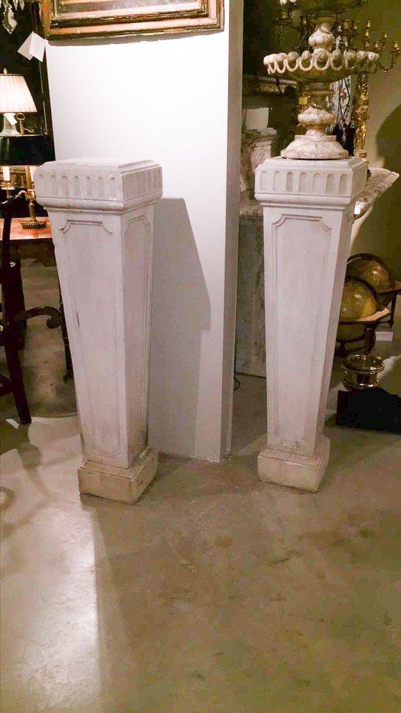 Pair Of 19th C. Italian Marble Pedestals - 2