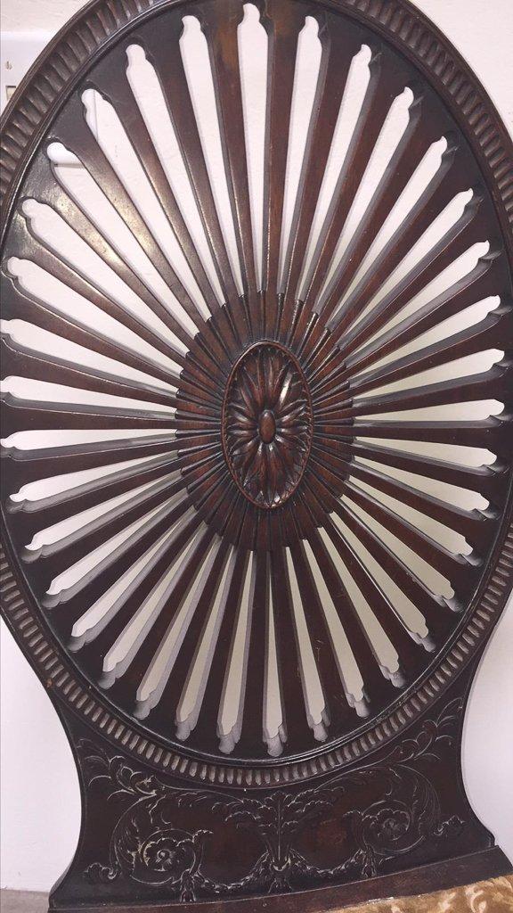 Oversize Pair Of Adamsmahogany Throne Chairs - 2