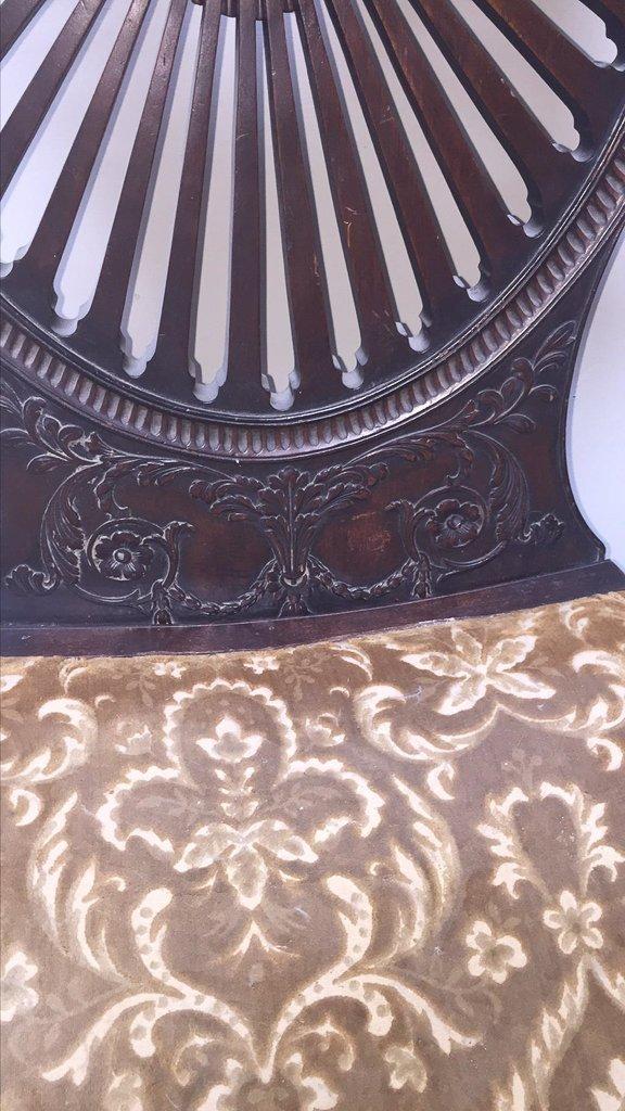 Oversize Pair Of Adamsmahogany Throne Chairs - 3