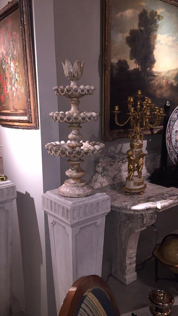 19th C.  Italian Carved Marble Multi-tier Tazza - 5
