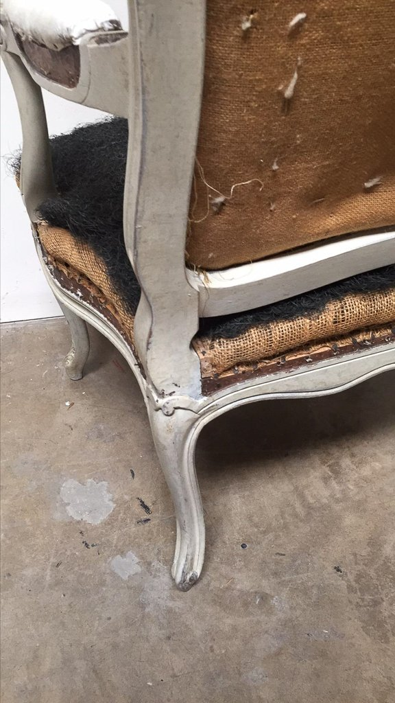 Pair Of Antique French Armchairs,louis Xv Style - 4