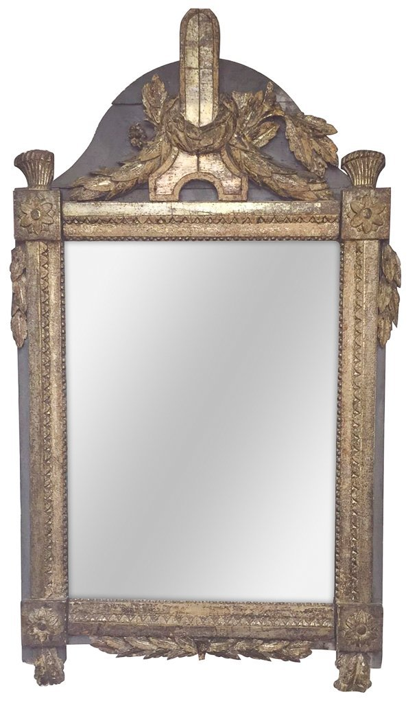 An 18th C. French Mirror, Nicely Carved Old