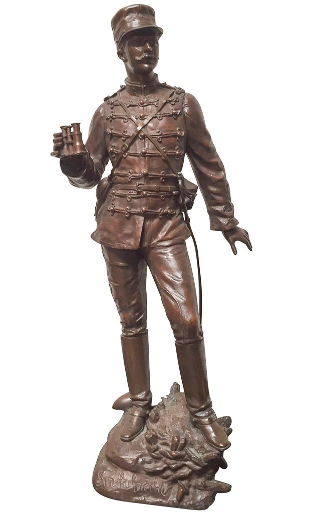 19th C French Bronze Soldier, Detailed Casting