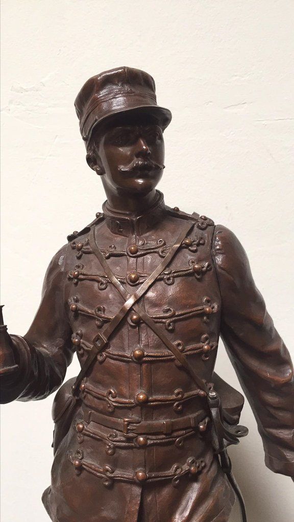 19th C French Bronze Soldier, Detailed Casting - 2