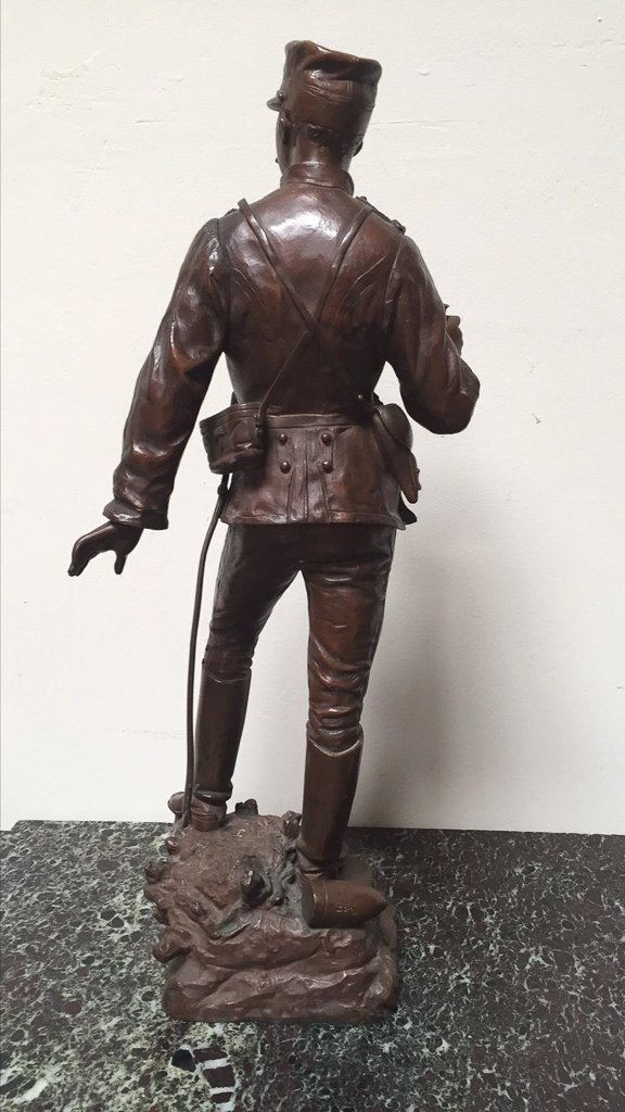 19th C French Bronze Soldier, Detailed Casting - 5