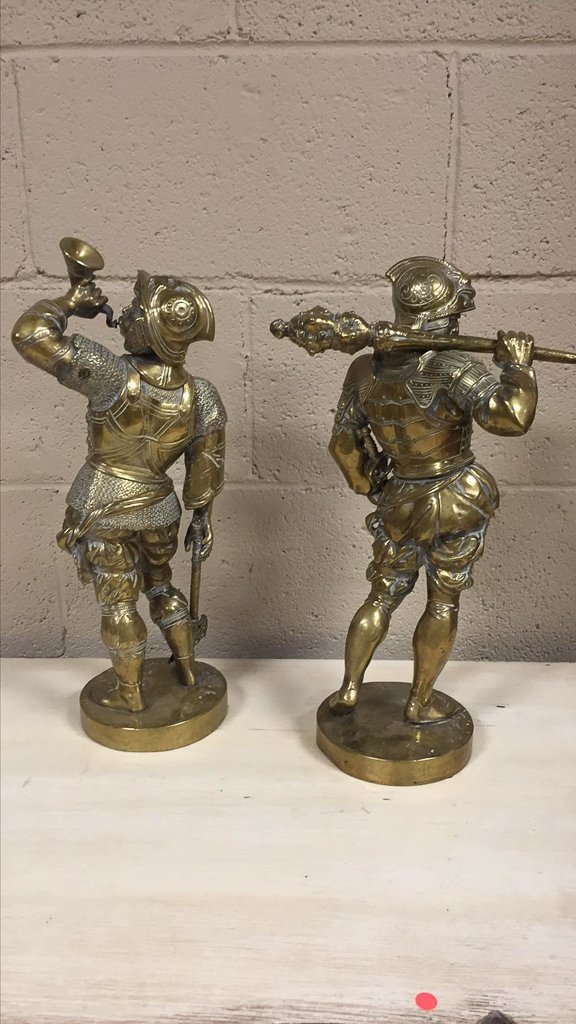 Pair Of 19th-century Polished Bronze Figures - 4