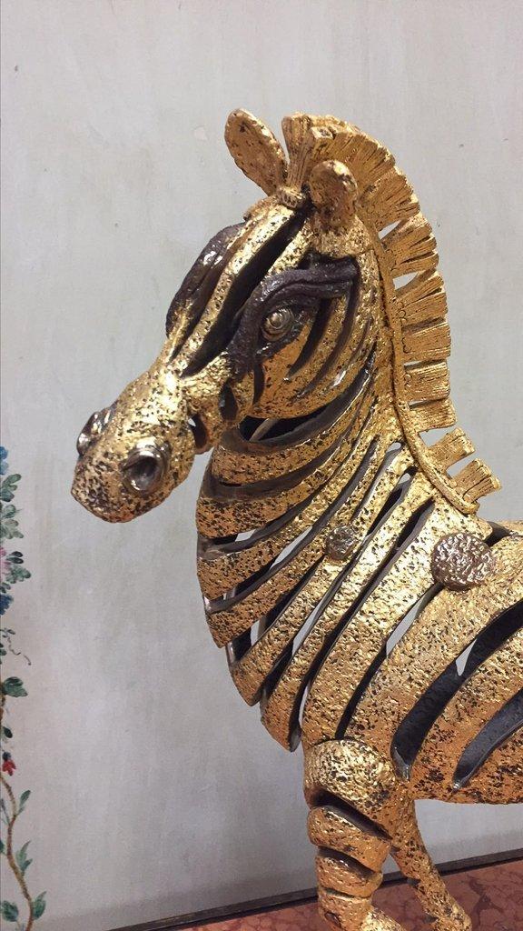Unusual Custom Made Wrought Iron Zebra - 2