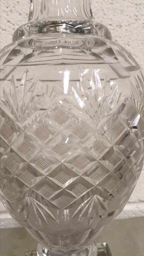 Pr. French Baccarrat Cut Crystal Vases, With - 4