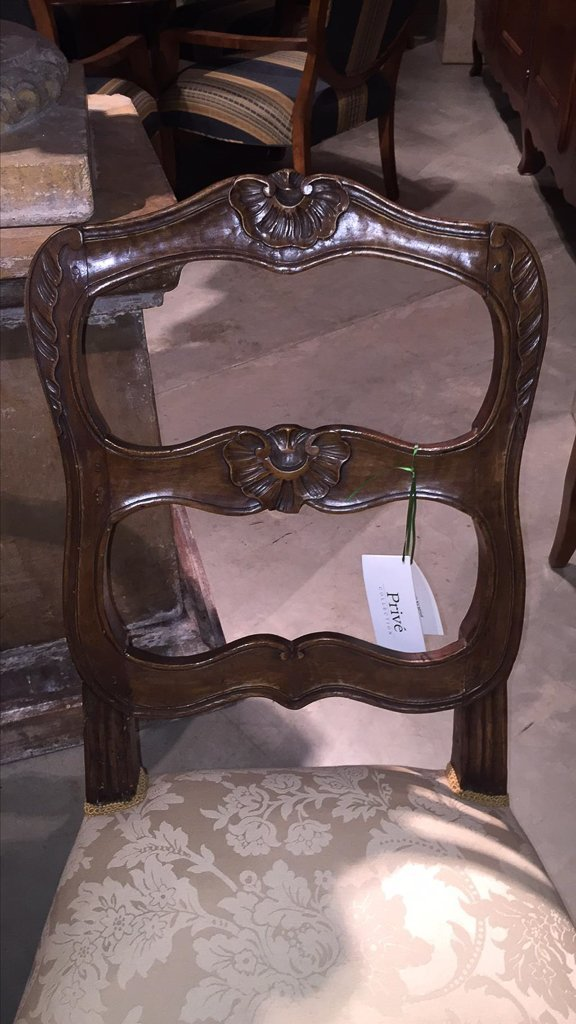 Pair Of 18th C. French Walnut Side Chairs - 2