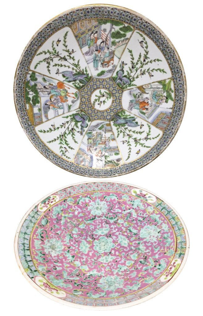 Nice Grouping Of 2 Japanese Porcelain Chargers