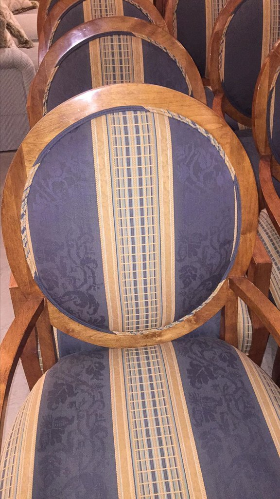 Set Of 8 Custom Art Deco Inspired Arm Chairs - 3