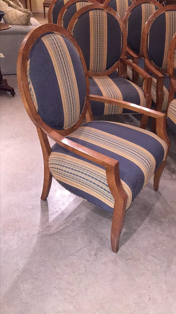 Set Of 8 Custom Art Deco Inspired Arm Chairs - 4