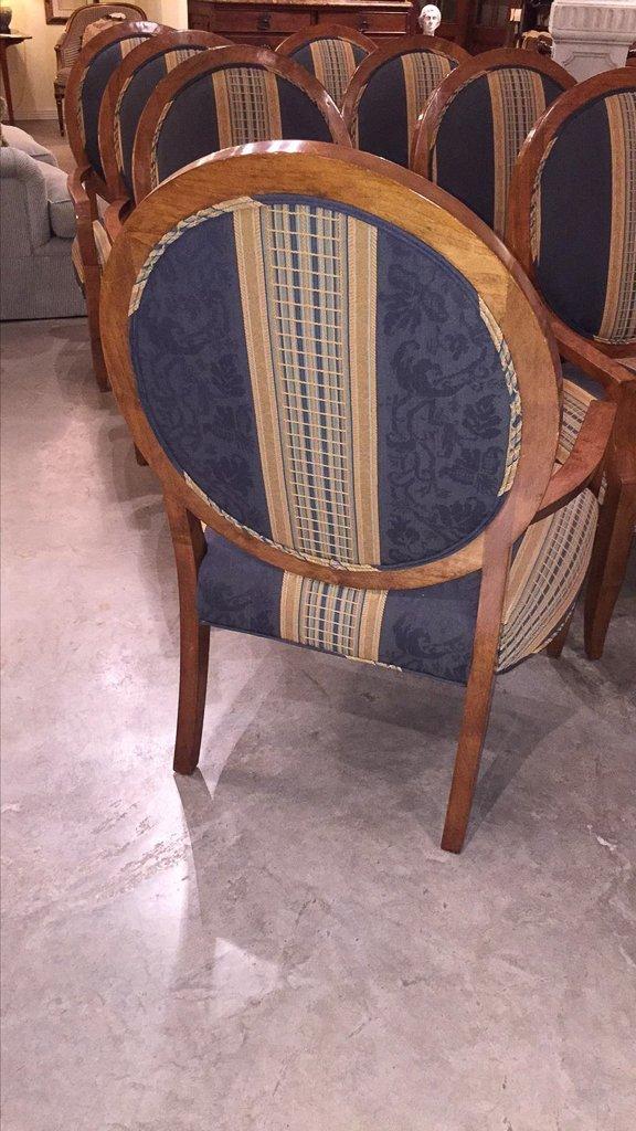 Set Of 8 Custom Art Deco Inspired Arm Chairs - 5