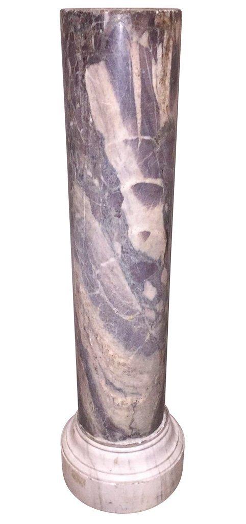 Rare 18th C. Marble Column Pedestal