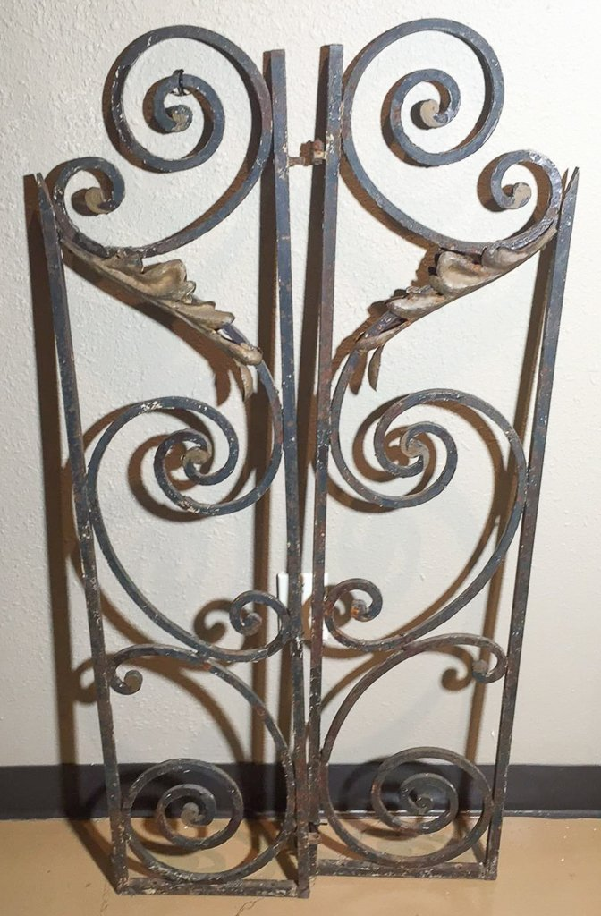 Small Pair Of Antique French Iron Gates