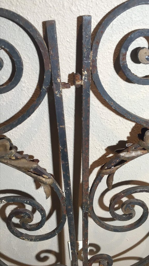 Small Pair Of Antique French Iron Gates - 2