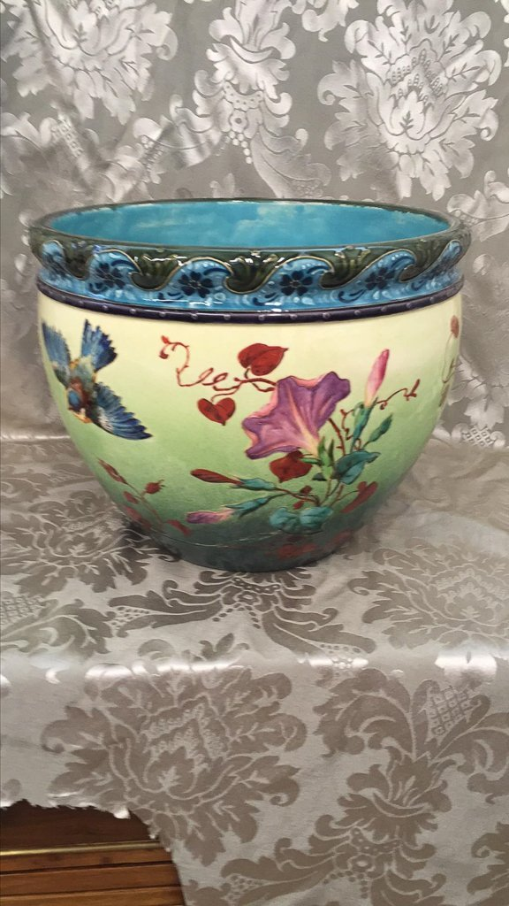 19th C French Barbotine Planter - 2
